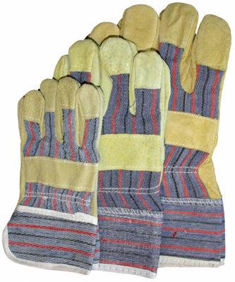 Handschoen splitleer geel maat 10